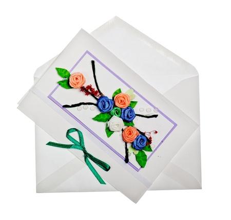 Handgemachte Grußkarte Standard-Bild - 13757725