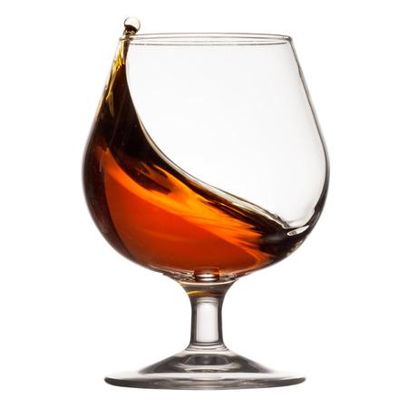 Splash of Cognac im Glas Standard-Bild - 37726017
