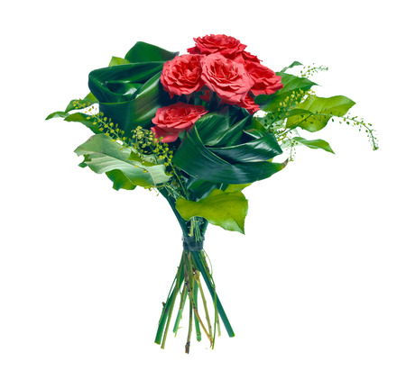 march band: bouquet of roses and leaves Stock Photo