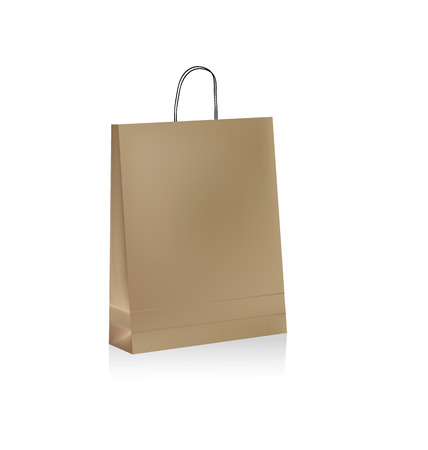brown paper: with handles brown paper bag Illustration