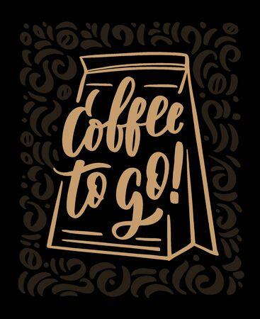 Coffee to go Ilustracja