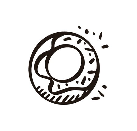 Doodle icons, donuts 일러스트