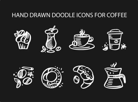 Coffee set icons