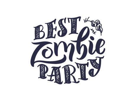 Halloween, zombie party.