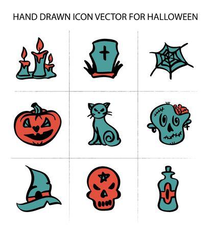 Halloween icons. Ilustracja