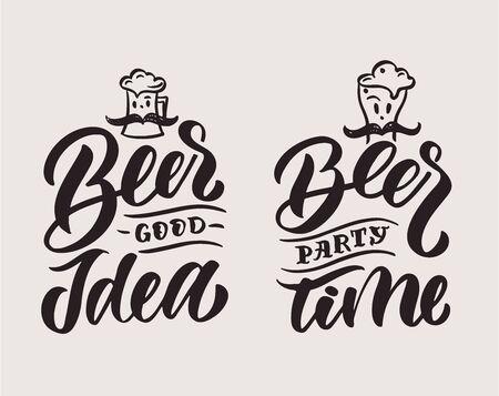 Beer phrases Ilustracja