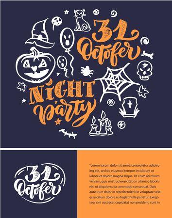 Halloween October holiday celebration