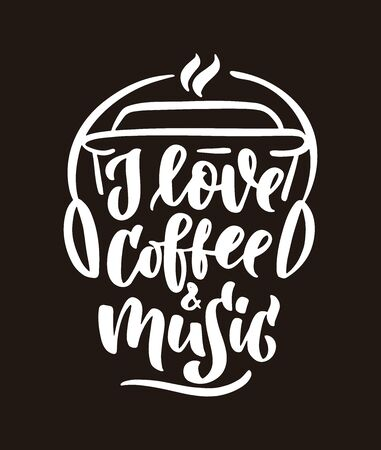 Coffee love Ilustracja