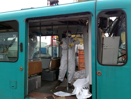 asbestos: Redevelopment of subway waggon.