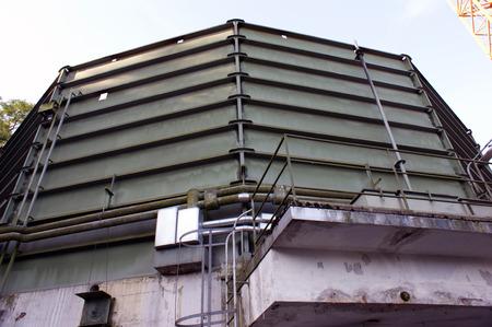 Gas tank demolition. photo