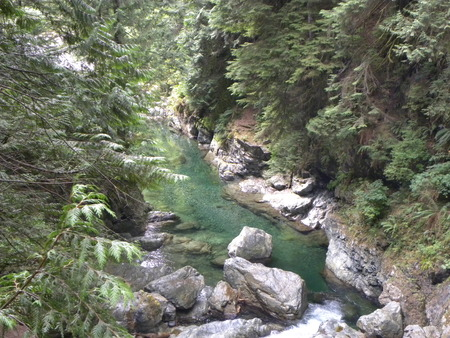 river below