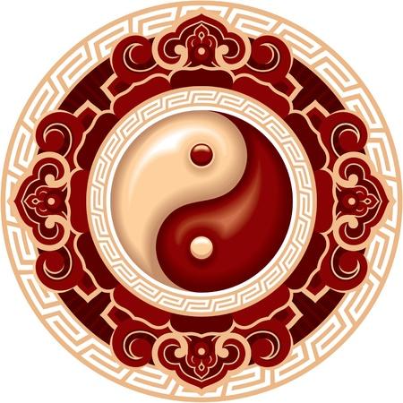 yin yang: Elemento de dise�o de la s�mbolo vector Oriental Yin Yang Vectores