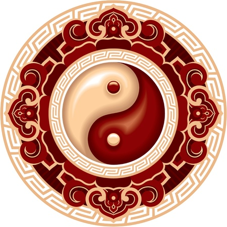 Vector Oriental Yin Yang Symbol Design Element Vector