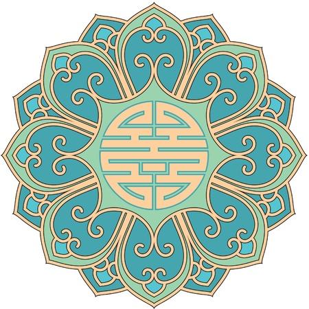 Vector Oriental Fllower Rosette