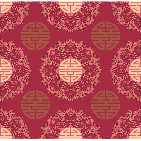 Vector Seamless Oriental Tile  Illustration