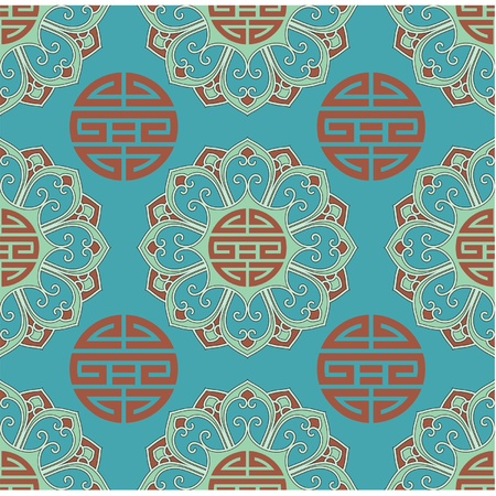 Vector Seamless Oriental Tile  Stock Vector - 9505838