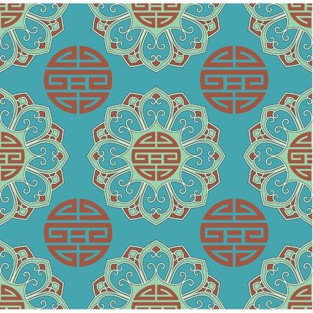 Vector Seamless Oriental Tile Stock Vector - 9505838