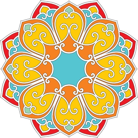 Vector Oriental Fllower Rosette Stock Vector - 9505785