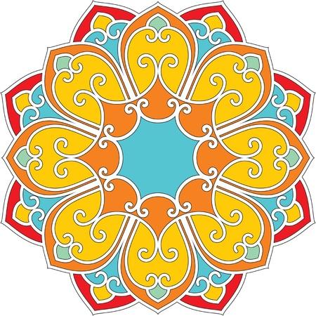 oriental vector: Vector Oriental Fllower Rosette