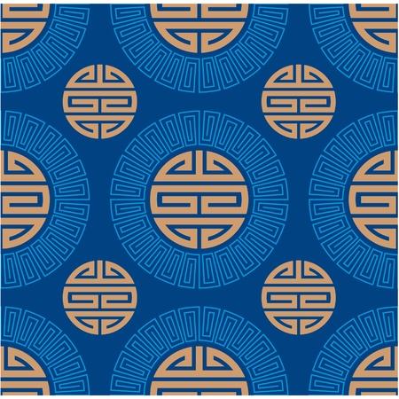 Vector Seamless Oriental Tile  Illustration