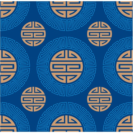 tile pattern: Vector Seamless Oriental Tile  Illustration