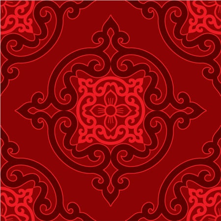 oriental vector: Vector Seamless Oriental Tile