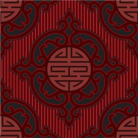 Vector Seamless Oriental Tile Stock Vector - 9505792