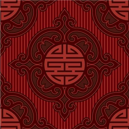 rosette: Vector Seamless Oriental Tile