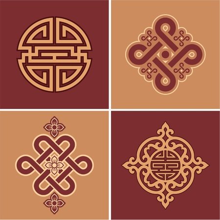 oriental: Vector Set of Oriental Elements Illustration