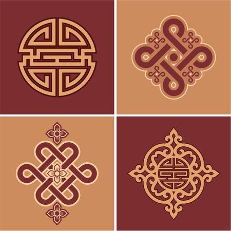 oriental vector: Vector Set of Oriental Elements Illustration
