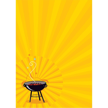 grilled: Vector Barbecue Copy Space Poster