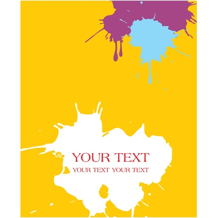 Vector Paint Splats Background (splashing watercolor)  Stock Vector - 9505778