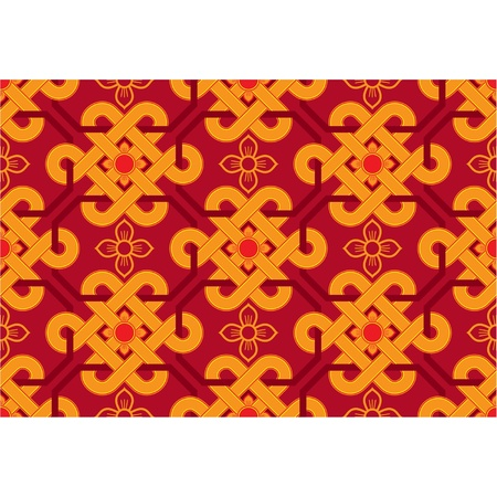 Vector Seamless Oriental Tile Vector
