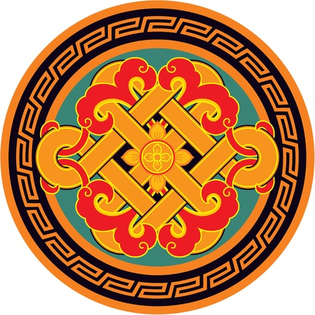 a traditional korean: Vector Oriental Round Rosette