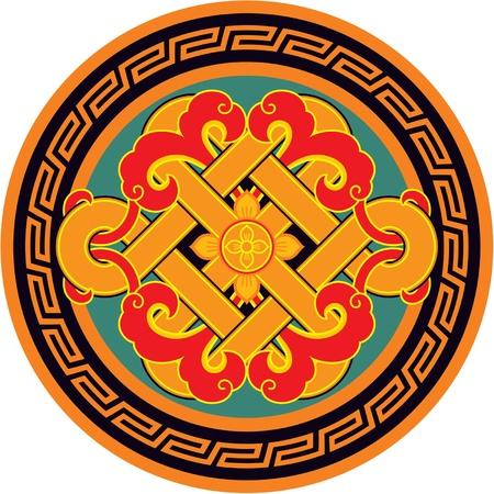 korean traditional: Vector Oriental Round Rosette