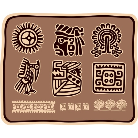 indigenous: Vector Set of Mexican Design Elements
