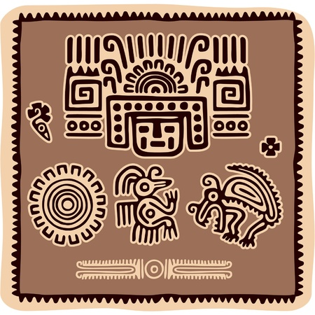 mexican culture:  Set of Mexican Design Elements Illustration
