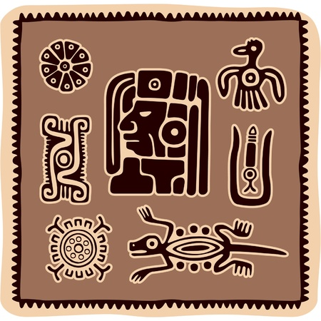 Set of Mexican Design Elements Stock Vector - 10762939