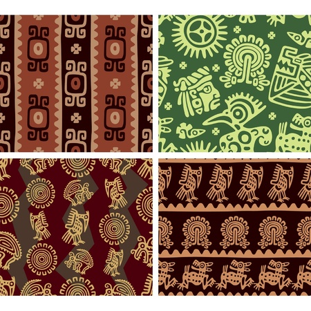 Set of Mexican Seamless Tiles Stock Vector - 10762975