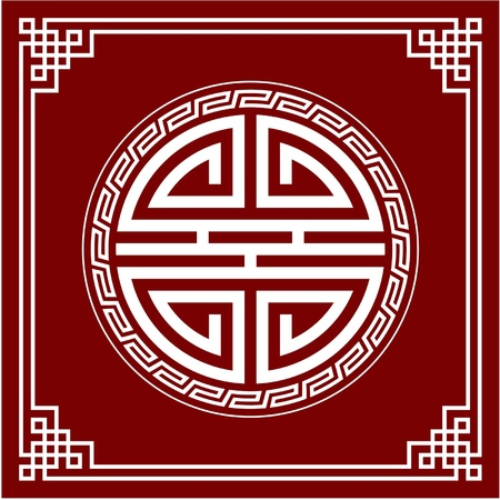 chinese border:  Oriental Design Element (Knot Composition)
