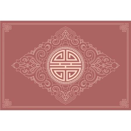 chinese border:  Oriental Decoration Element Background