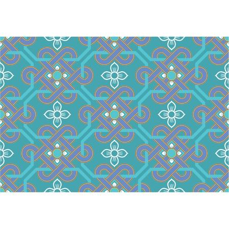 korean:  Seamless Oriental Tile (background, wallpaper, texture, pattern)