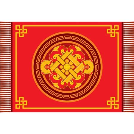 Carpet Oriental Decoration Vector Illustration