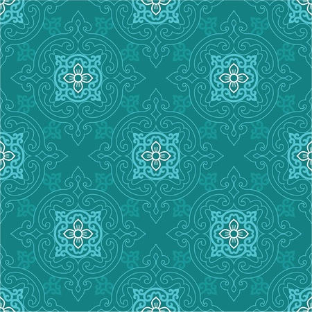 Seamless Oriental Tile (background, wallpaper, pattern, texture)  Ilustrace