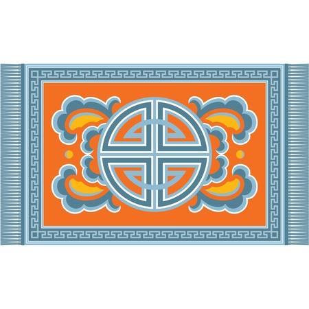 Oriental Carpet Ornament (asian pattern decoration)  Vector