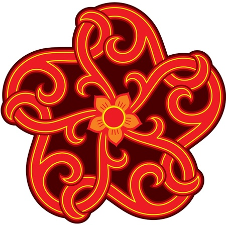 korean traditional: Oriental Design Star Element (Rosette)