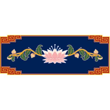 oriental flower: Oriental Flower Decoration  Illustration
