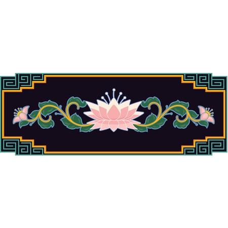 oriental background: Oriental Floral Design Element in the Frame
