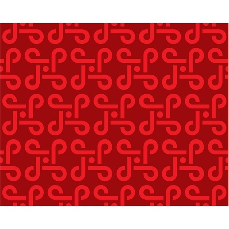 chinese knot:  Seamless Tile (wallpaper texture pattern background)  Illustration