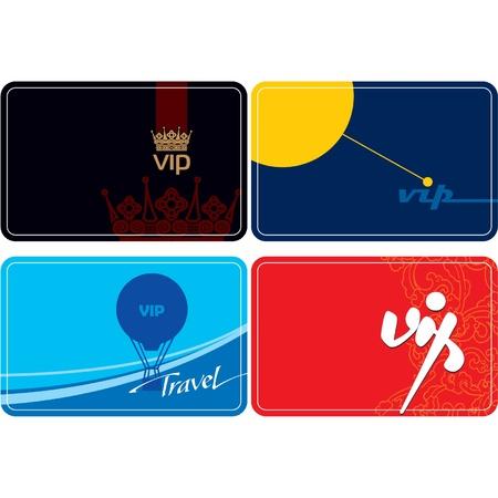 asian business: Set of VIP cards  Illustration